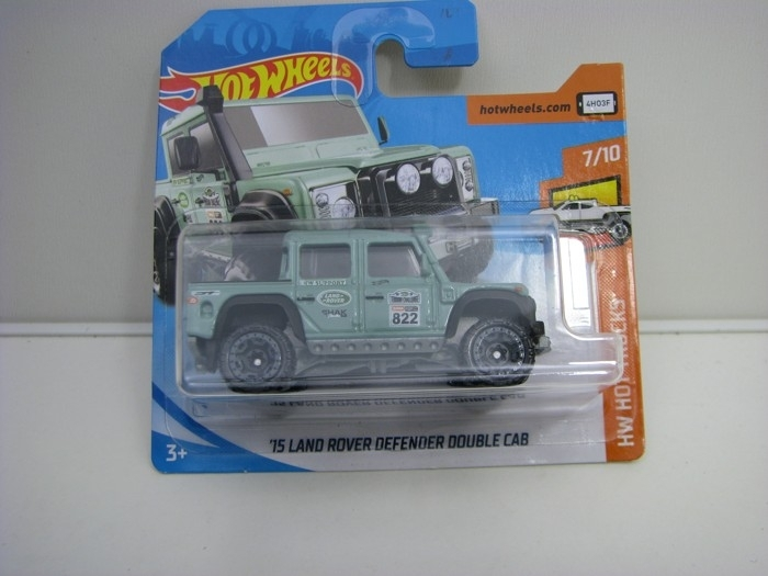 Land Rover Defender Double Cab White Hot Wheels Hot Trucks-2018-FJY55